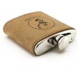 Flasque Inox Cerf avec cuir, 180ml