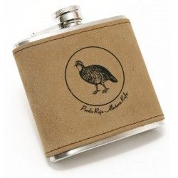 Flasque Inox cuir et Pedrix, 180ml