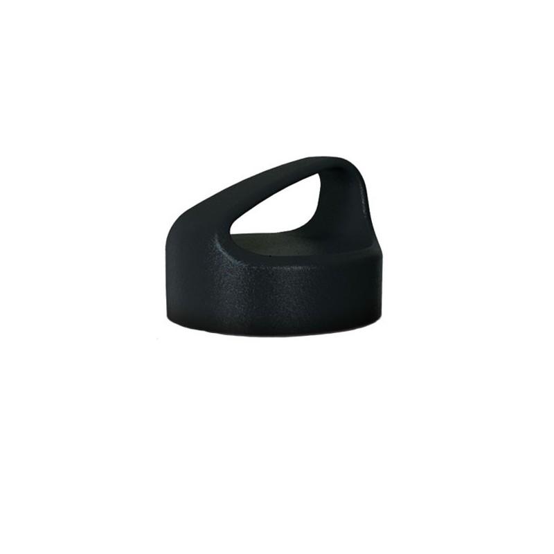 Bouchon noir à visser pour gourde large goulot de marque Laken