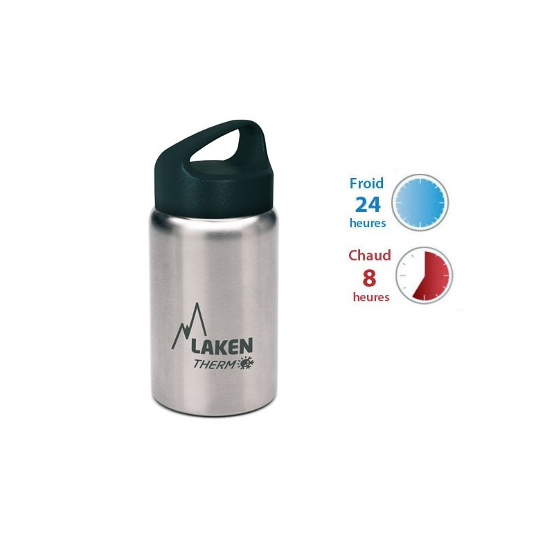 Petite gourde inox 35cl large goulot isotherme Laken