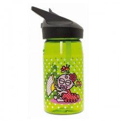 Gourde enfant vert pois blancs bébé flamenco en Tritan, 0,45 litre, Laken