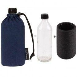 Gourde en verre isotherme Bleu 0.6 litre