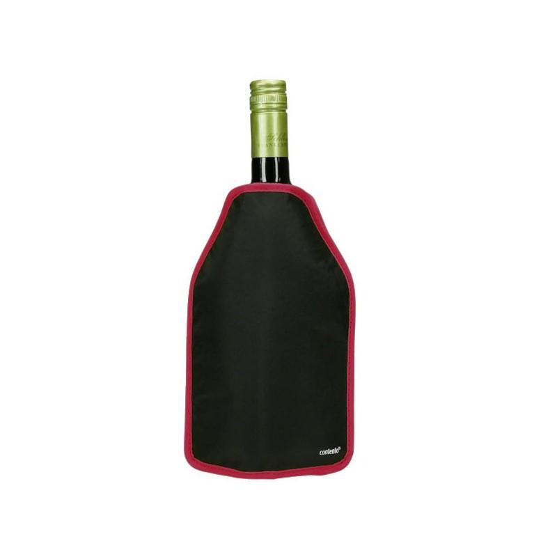 Manchon rafraîchissant Noir à bords rouges, 16x22,5cm