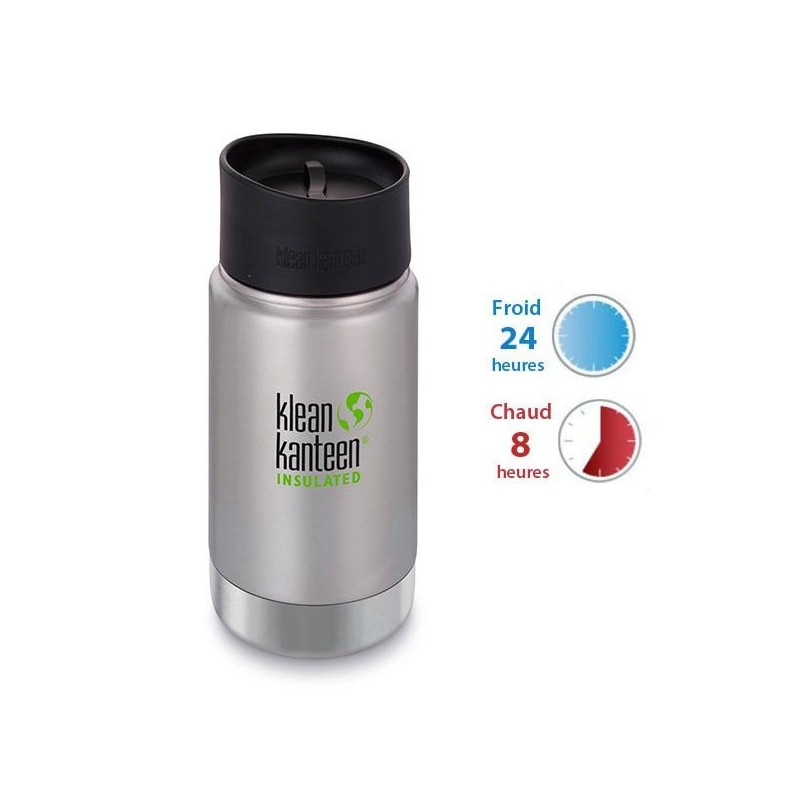 Gourde isotherme inox Klean Kanteen 0,35L, bouchon pour siroter