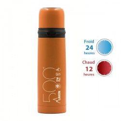 Thermo Orange inox avec bouchon tasse de Laken