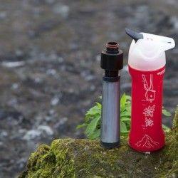 Gourde filtrante à eau rouge 0.8L MyBottle avec filtre virus