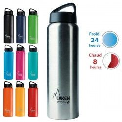 Gourde isotherme inox 1 litre large goulot  Laken