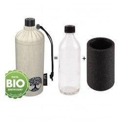 Grande gourde en verre isotherme écolo naturel , 0.75 litre