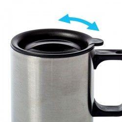 Tasse inox double paroi avec couvercle