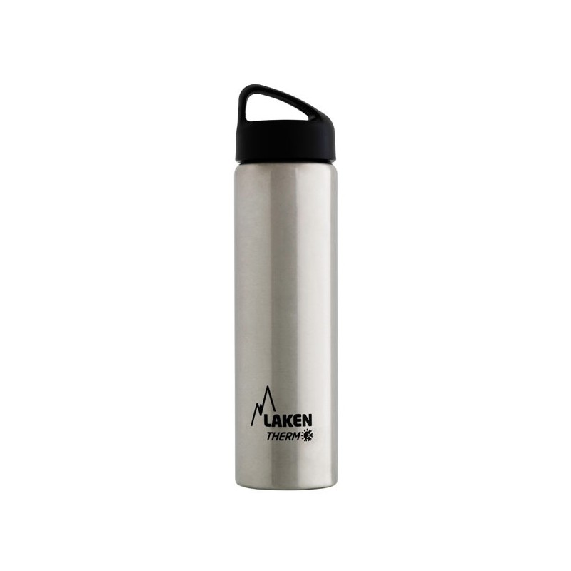 Gourde inox 75cl large goulot isotherme Laken