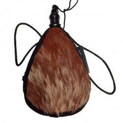 Gourde basque latex coupe droite à poils 1 Litre