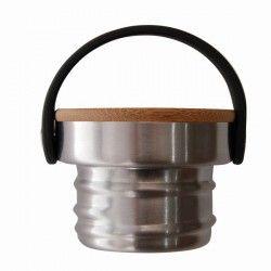 Gourde inox Drink life 0,50 l avec bouchon inox et bambou