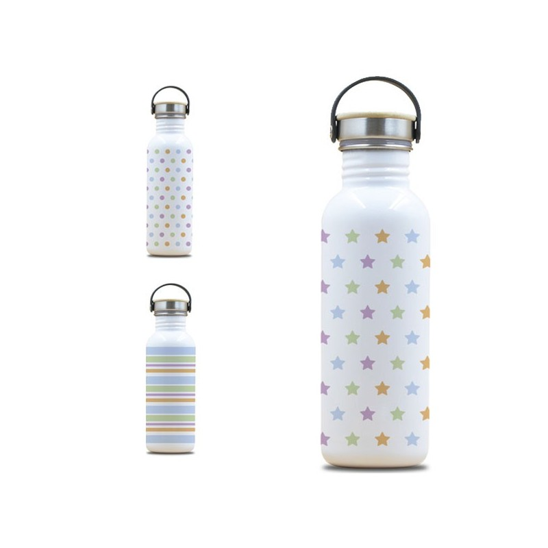 Gourde inox Drink Life  0.75 litre, large goulot, bouchon inox