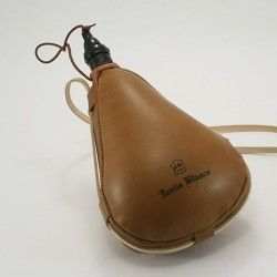 Gourde basque cuir intérieur latex droite 1 litre