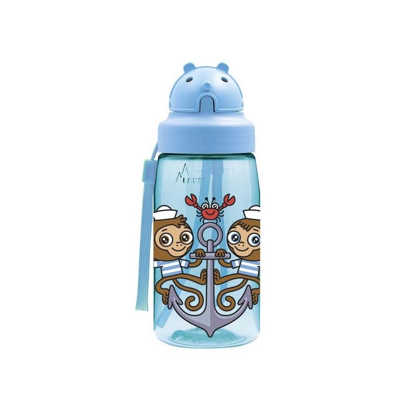 Gourde paille sans BPA enfant paille 450ml en Tritan