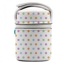 Lunch box enfant thermique en inox, housse neoprene à pois 0,5 litre
