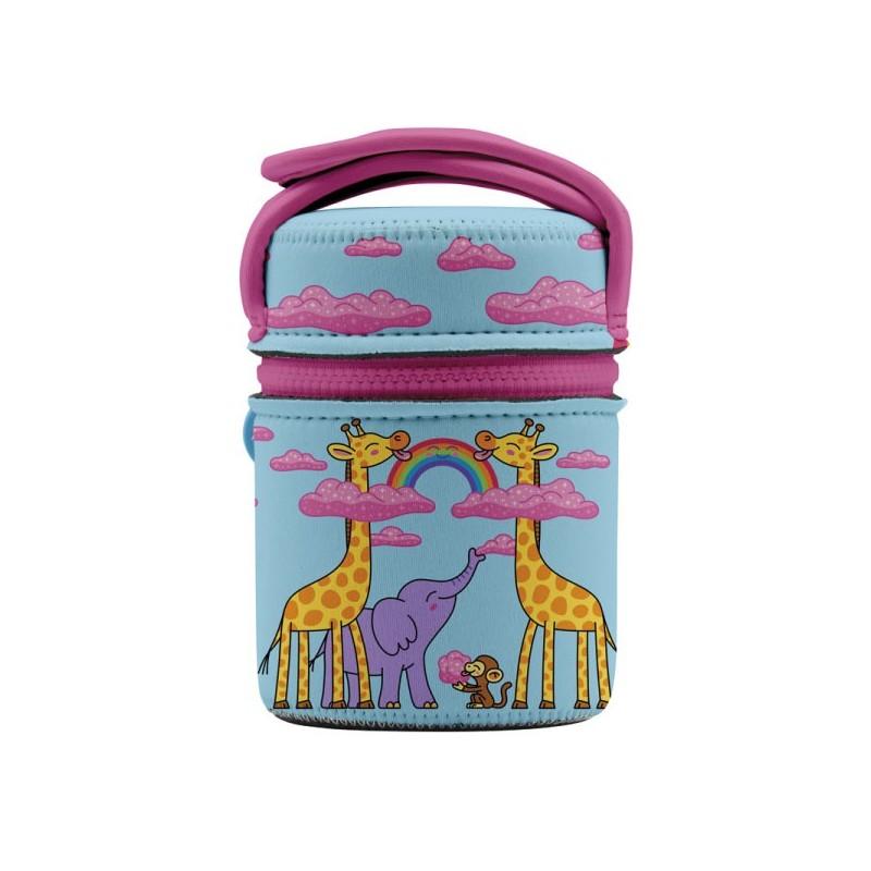 Lunch box isotherme enfant Girafe et arc-en-ciel 0,5 litre