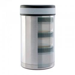 Lunch-box isotherme inox 1,5 l, 3 compartiments et housse Laken - 4