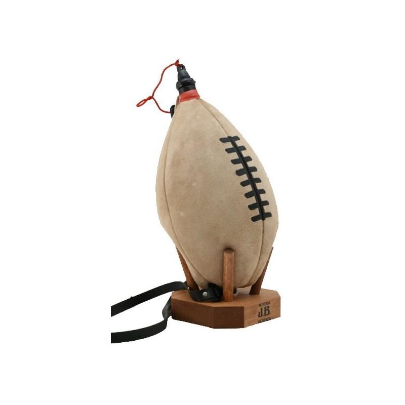 Gourde cuir Ballon de Rugby à la régalade