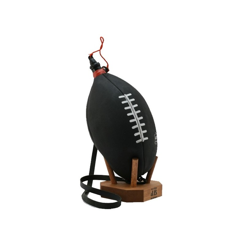 Gourde vin Ballon de Rugby noire