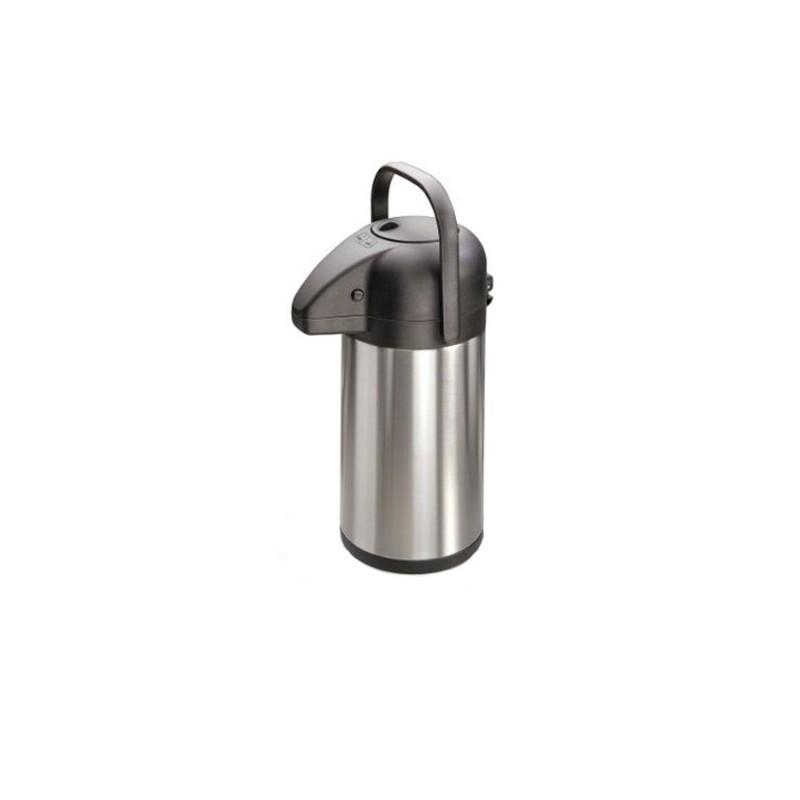 Pichet isotherme à pompe en inox, 1,9litre