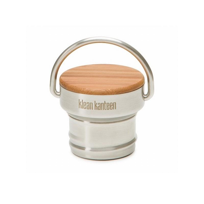 Bouchon en inox et bambou pour gourdes Klean Kanteen